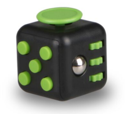 Fidget Cube - Black/Green
