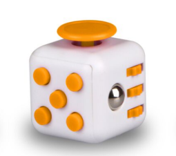 Fidget Cube - White/Orange